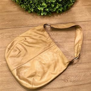 Hobo International Large Gold Leather Handbag